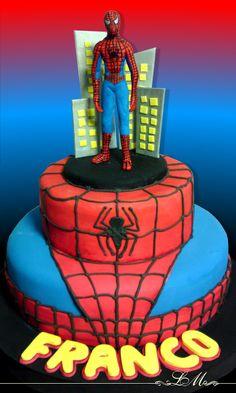 Birthday Cake To Aaron Spiderman