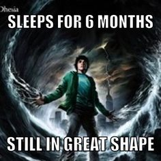 Because he's PERCY JACKSON.