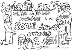 Sochi Winter Olympics Colouring Page
