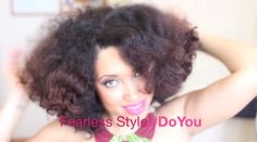 Twist Bantu Knot Out On Natural Fresh Washed Hair
