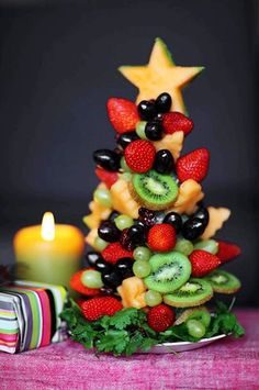 Christmas tree crafts idea, Fruit Christmas tree craft idea for 2013 Christmas  #Christmas #tree #crafts www.loveitsomuch.com