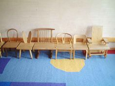 Seven Chairs - from the Exhibition of Chairs for Children at Chihiro Art Museum (June 2011)