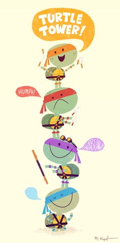 Turtle Tower! #geeky #tmnt #cute