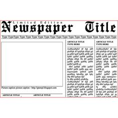 Newspaper Template for Photoshop #photoshop #templates #free