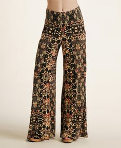 Free People Printed Wide Leg Pants | www.southmoonunder.com