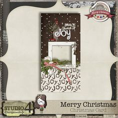 """Digital Scrapbooking Studio Merry Christmas - Card Freebie - On behalf of Studio4 Designworks, enjoy this holiday card as a token of my appreciation for all of the followers of my designs. It is always so appreciated and I offer this up as a token of my heartfelt gratitude. My you use it with """"Joy"""" in your hearts for"""