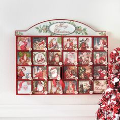 Santa Advent. #dreamdigs advent calend, santa advent, christma advent