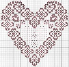 lace heart - coeur dentelle; Lace heart sampler from Italy; beautiful!