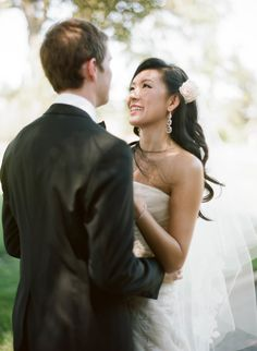 We are HUGE advocates of First Looks! Sylvie Gil Photography | See the wedding on SMP: http://www.StyleMePretty.com/2014/01/29/california-wedding-at-santa-lucia-preserve/