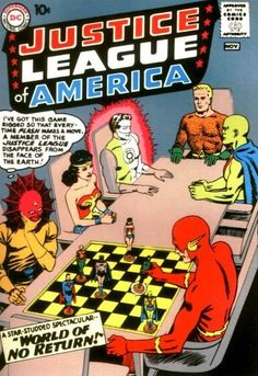 The first Justice League Comic  Justice League of America #1, October 1961