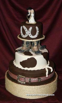 Western style wedding cake