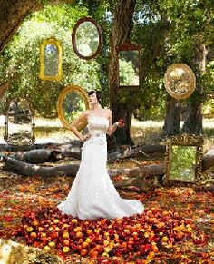 Snow White themed wedding fantasy-wedding