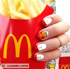 McDonald's I'm Lovin' It  by LacqueredLawyer from Nail Art Gallery