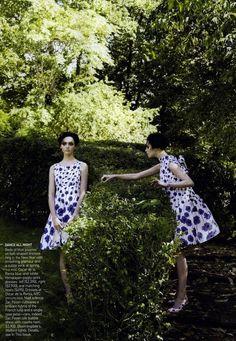 """""""Garden of Delights"""" by Steven Meisel for Vogue December 2006"""