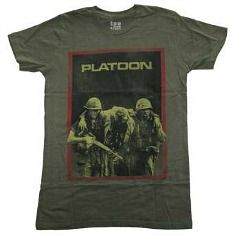 Platoon 80s Movie T-shirt in military colours