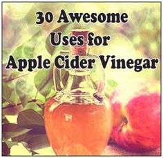 30 Ways to Use Apple Cider Vinegar by Imperfectly Happy