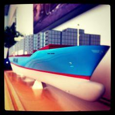 Emma Maersk scale model, approx. 1 meter long.