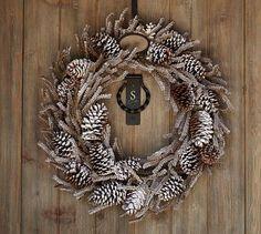 Winter Woods Wreath #potterybarn