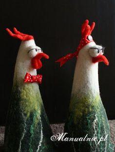 felt chickens