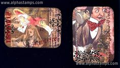 Artwork by Teri Calia for The Alice in Wonderland ATC Swap