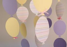 make a Balloon Garland for a party/baby shower