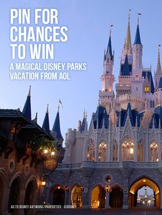I just entered AOL's Magic Vacation Giveaway and you can too!  Pin to remember to play every day for more chances to win  10 daily prizes, plus a chance to enter to win a Disney Parks Magical vacation.