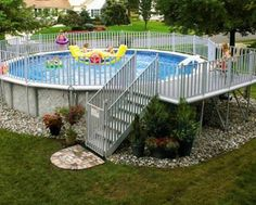 landscape ideas for above ground pool area | Above Ground Swimming Pools - Photos of Above Ground Swimming Pool ...