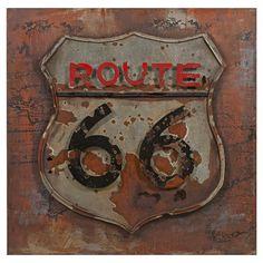 Route 66 Wall Decor - Rustic Warmth
