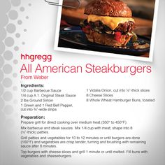 Celebrate Independence Day with a classic American Steakburger from @webergrills.