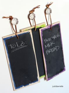 These little guys are genius! Must make asap! :) #DIY #Chalkboard #Tablets