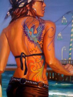 by David Uhl   artbikerworld.com  I don't think I'd object to this one!  ;-)