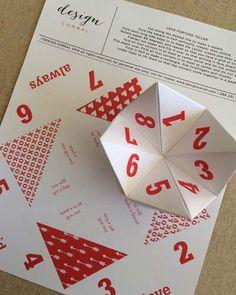 Printable Valentine fortune teller