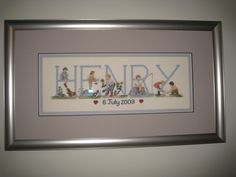 Counted Cross Stitch Pattern : Baby / Birth Announcement