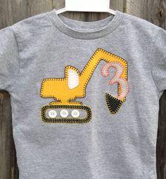 Construction Birthday Shirt for Lucas birthday parti, birthday shirts, shirt idea, birthdays, birthday idea, 3rd birthday, construction birthday shirt, 2nd birthday, construct birthday