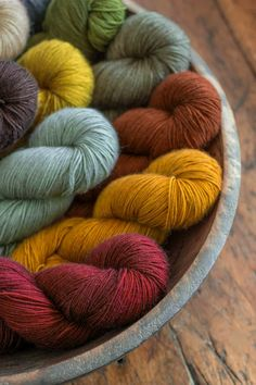 Churchmouse plucky knitter exclusive color yarns.