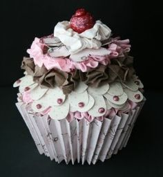 cupcake gift card holder, card idea, cupcakes, mini albums, gift cards, cupcak mini, cupcak gift, crafti idea, gift card holders