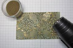 Splitcoaststampers - Tutorials; faux patina