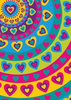 Papel regalo corazones colores vivos