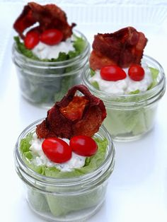 Mason Jar Wedge Salads | Big Red Kitchen - a regular gathering of distinguished guests