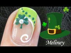 St. Patrick's Day nail art nail art tutorials, clovers, nail art designs, clover nail, nail arts, st patricks day, nail tutorials, french manicur, nail design