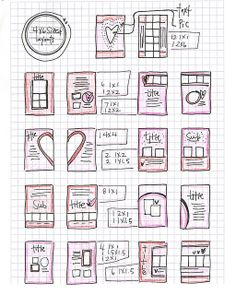 scrapbook sketches 4x6 sized pages by vol25, via Flickr