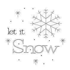 Let It Snow Free Pattern