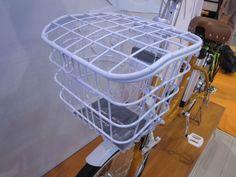 wow! Fine white bike crate