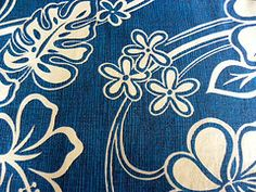 Royal blue and white tropical