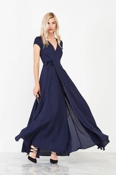 Major love for this sapphire-hued Reformation wrap dress for your bridesmaids