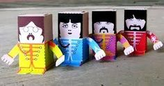 My son's paper Beatles :O)