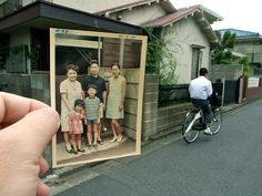 A look into the past. Pictures are perspectively placed in the same location, different time. Photos by hajimebs