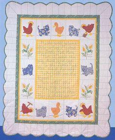 Little Red Hen baby quilt
