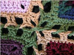 An Attractive way to join squares. Use this method to put together an afghan with the 12 squares of your choice! Just use the same hook size and yarn weight that you made the squares with. Free
