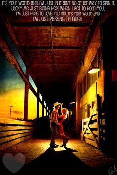 """Just Passing Through"" -Jason Aldean"